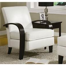 white leather accent chair wonda white bonded leather accent chair with wood arms ebay
