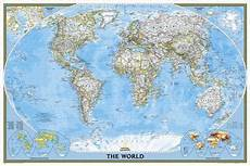 Geographic Map National Geographic World Classic Poster Size Map