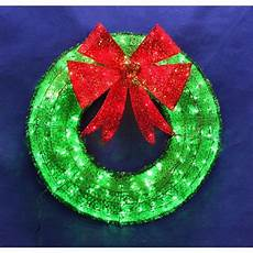 Outdoor Christmas Wreaths With Led Lights Christmas Wreath Green Home Decor Led Lighted Indoor