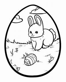 easter bunny with eggs coloring pages getcoloringpages