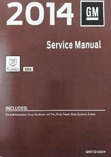 2014 Cadillac Srx Factory Service Manual 4 Volume Set