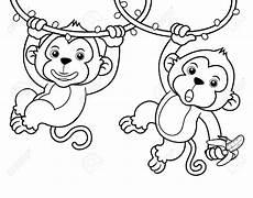 Mono Para Colorear Dibujos De Dos Monos Bebes Para Colorear Pintar E