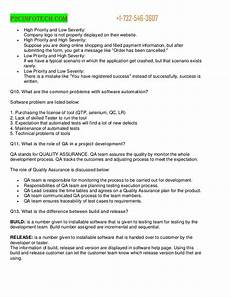 Quality Assurance Interview Questions And Answers Interview Questions And Answers For Quality Assurance
