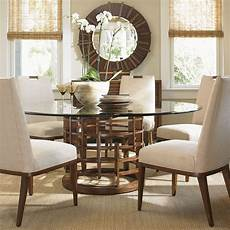 glass dining room sets island fusion 60 quot meridian glass dining room set