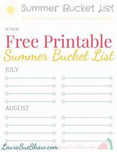 Bucket List Printable Template Free Printable Summer Bucket List