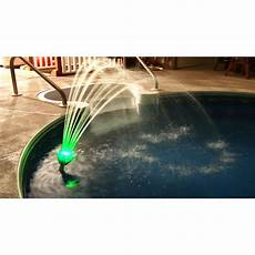 Solar Waterfall Lights Pool Fountain Magic Pool Fountain Color Changing Led