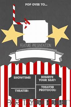 Movie Themed Invitation Template Free Drive In Movie Party Invitation Party Like A Cherry