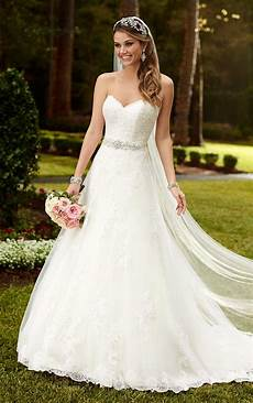 satin a line princess wedding dresses stella york
