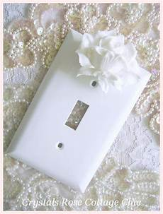 Cottage Light Switch Covers Shabby Cottage Chic White Rose Switchplate Wall Plate