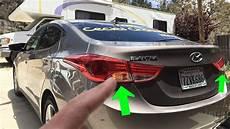 Hyundai Elantra Light Removal Hyundai Elantra Rear Turn Signal Light Bulb Replacement