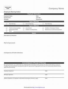 Employee Write Up Forms Free Employee Warning Notice Download 56 Free Templates Amp Forms