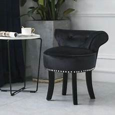 velvet vanity stool wood dressing padded chair piano seat