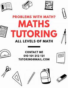 Math Tutor Flyer Examples Maths Tutoring Lessons Flyer Template Postermywall