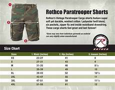 Paratrooper Pants And Shorts Size Chart Surplus Nation
