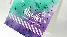 Water Color Cards Watercolor Background Make A Card Monday 265 Youtube