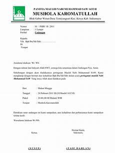 contoh undangan phbi maulid nabi