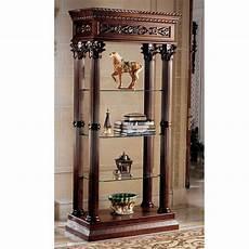 curio cabinet display open glass wood shelf shelves