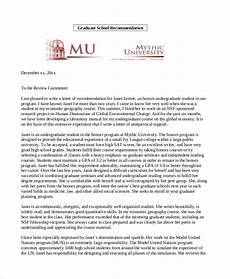 Letter Of Recommendation For Masters Program Free 9 Sample Letters Of Recommendation Format In Pdf
