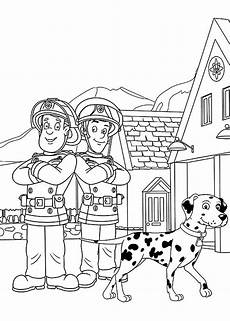 free printable color book pages santa fireman fireman
