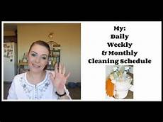 Daily Weekly Monthly Cleaning Home Management My Daily Weekly Amp Monthly Cleaning