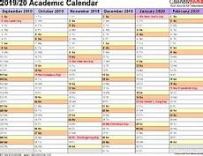 Academic Calendar Template 2020 17 Excel Academic Calendars 2019 2020 Free Printable Excel Templates