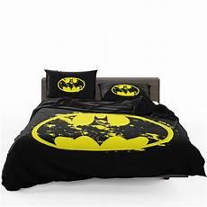 batman yellow dc symbol comforter set heroes bedding