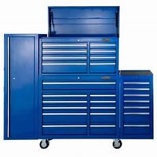 buy maxim 28 drawer combo blue tool box locker side