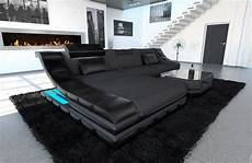 Couch Led Lights Sectional Fabric Sofa New York L Shape Couch With Led