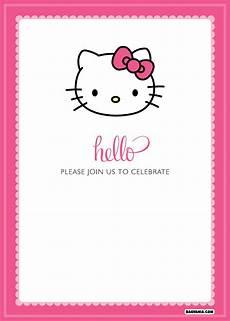 Hello Kitty Birthday Template Free Printable Hello Kitty Birthday Invitations Bagvania