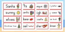 Word Christmas Card Australian Christmas Word Cards Teacher Made