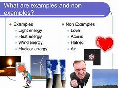 Light Energy To Electrical Energy Examples What Are The Non Examples Of Energy Brainly Ph