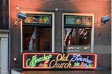 Red Light Shop Coffee Shop In The Red Light District High Res Stock Photo