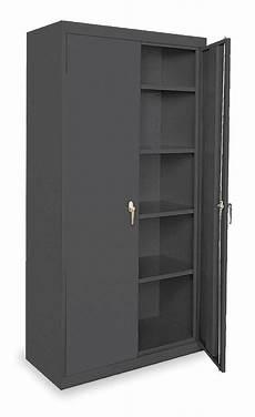 sandusky commercial storage cabinet black 78 quot h x 36 quot w