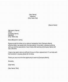 Two Weeks Notice Letter Retail 2 Weeks Notice Letter For Retail Best Of Free 21 Two Weeks