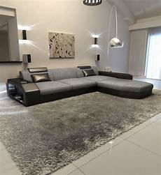 Couch Led Lights Modern Fabric Sofa Dallas L Shape Designer Couch With Led