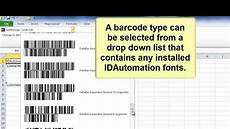 Excel Barcode Font How To Create Barcodes In Microsoft Excel Using Barcode