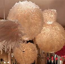 Feather Light Furniture Feather Ball Fixture Contemporary Chandeliers By