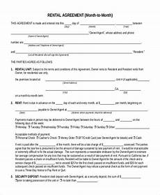 Room Rental Agreement Month To Month Free 6 Sample Month To Month Lease Forms In Pdf Word