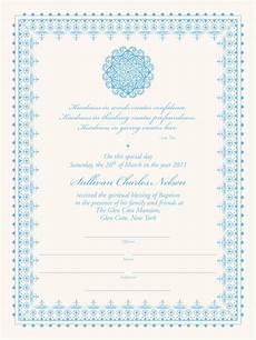 Christening Certificate Baby Baptism Certificate Mandala Baby Certificate