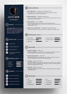 Best Design Resumes Free Creative Resume Template In Psd Format Pinteres