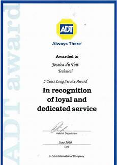 Years Of Service Certificate Long Service Award Certificate
