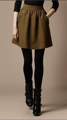 faldas kort tweed zip detail skirt like the color with the black