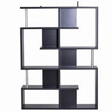 Lillyvale Wood Bookcase Bookshelf S Shape 6 Tier Shelves by Homcom Wood Bookcase 5 Tier Shelves S Shape Bookshelf Free