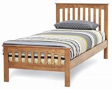hevea honey oak finish bed frame all sizes 3ft 4ft 4ft6