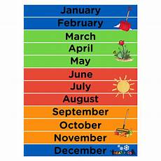 Year Month Calendar Months Of The Year Calendar For Kids