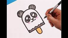 Cute Drawlings How To Draw A Cute Panda Popsicle Youtube