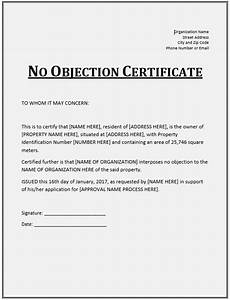 Sample Of No Objection Letter From Employer 10 Free Sample No Objection Certificate Templates