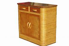 stacked rattan storage cabinet with mahogany top for sale