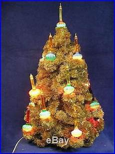 Top Of Christmas Tree Lights Not Working Vintage Bottle Brush Christmas Tree 18 Working Bubble