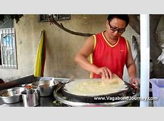 Chinese Street Food: Jian Bing (Crepes)   YouTube
